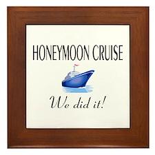 Honeymoon Cruise Framed Tile