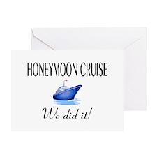 Honeymoon Cruise Greeting Card