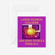 large hadron collider Greeting Card