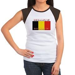 Belgium Belgian Flag Women's Cap Sleeve T-Shirt