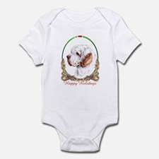 Clumber Spaniel Holiday Infant Creeper