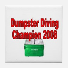 champ 2008 /red Tile Coaster