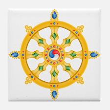 Dharmachakra wheel Tile Coaster