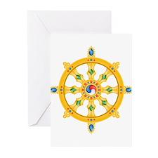 Dharmachakra wheel Greeting Cards (Pk of 20)