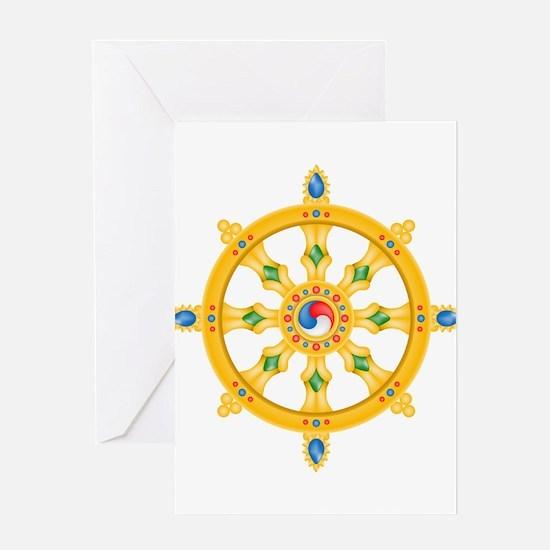 Dharmachakra wheel Greeting Card