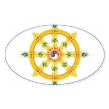 Dharmachakra wheel Oval Decal