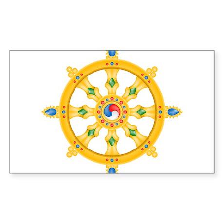 Dharmachakra wheel Rectangle Sticker