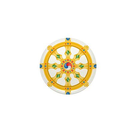 Dharmachakra wheel Mini Button