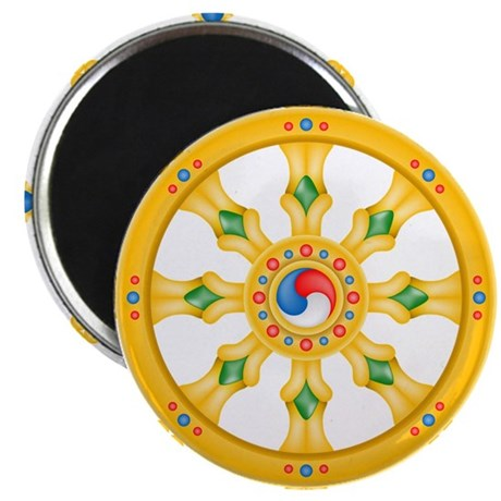 "Dharmachakra wheel 2.25"" Magnet (10 pack)"
