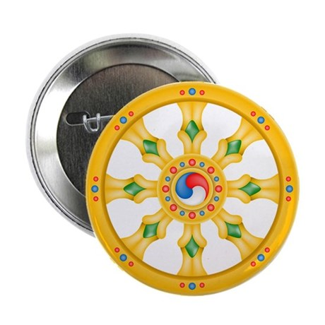 "Dharmachakra wheel 2.25"" Button (100 pack)"