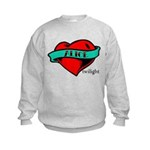 Twilight Alice Heart Tattoo Kids Sweatshirt