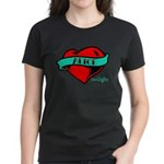 Twilight Alice Heart Tattoo Women's Dark T-Shirt