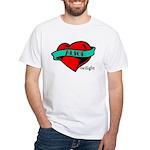 Twilight Alice Heart Tattoo White T-Shirt
