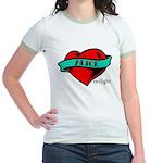 Twilight Alice Heart Tattoo Jr. Ringer T-Shirt