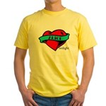 Twilight Alice Heart Tattoo Yellow T-Shirt