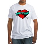 Twilight Alice Heart Tattoo Fitted T-Shirt