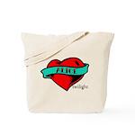 Twilight Alice Heart Tattoo Tote Bag