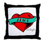 Twilight Alice Heart Tattoo Throw Pillow