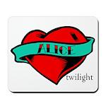 Twilight Alice Heart Tattoo Mousepad