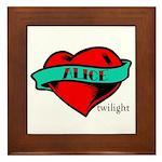 Twilight Alice Heart Tattoo Framed Tile