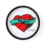 Twilight Alice Heart Tattoo Wall Clock