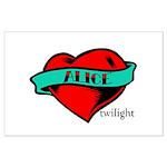 Twilight Alice Heart Tattoo Large Poster
