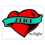 Twilight Alice Heart Tattoo Small Poster