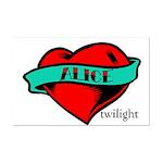 Twilight Alice Heart Tattoo Mini Poster Print