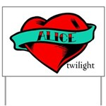 Twilight Alice Heart Tattoo Yard Sign