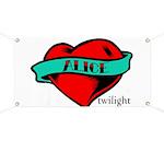 Twilight Alice Heart Tattoo Banner