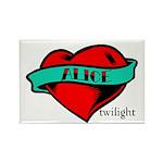 Twilight Alice Heart Tattoo Rectangle Magnet (100