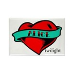 Twilight Alice Heart Tattoo Rectangle Magnet (10 p