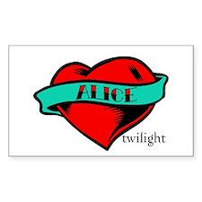 Twilight Alice Heart Tattoo Rectangle Decal