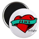 Twilight Alice Heart Tattoo Magnet