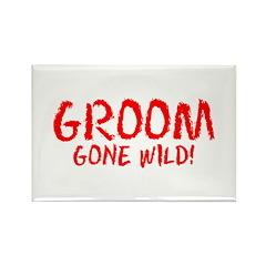 Groom Gone Wild Rectangle Magnet