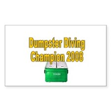 Champ 2008 /gold Rectangle Decal