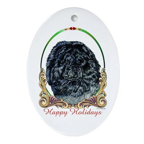 Black Chow Holiday Keepsake (Oval)