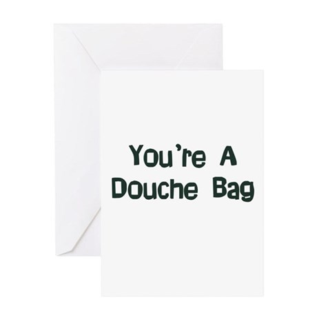 Douche Bag Greeting Card