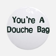 Douche Bag Ornament (Round)