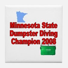 MN champ / red Tile Coaster