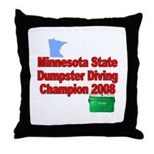 MN champ / red Throw Pillow