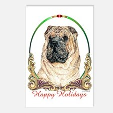 Chinese Shar Pei Holiday Postcards (Package of 8)