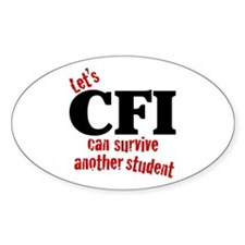 CFI can survive Oval Decal