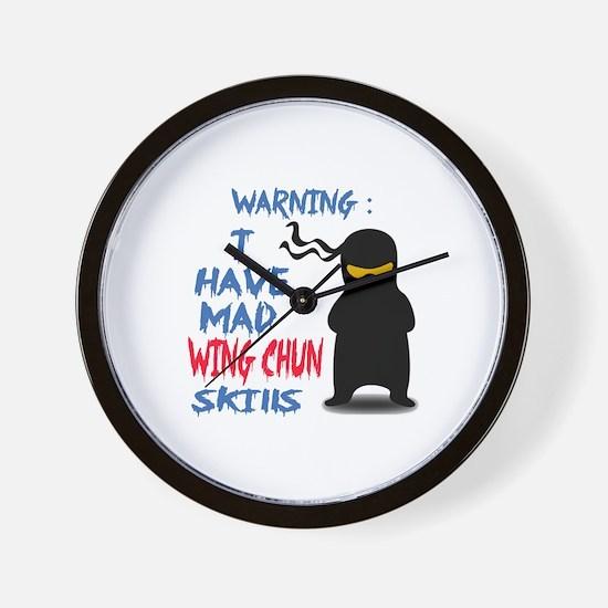 I have mad Wing Chun skills Wall Clock