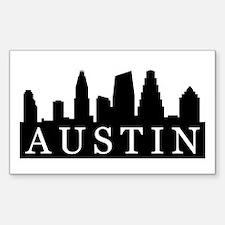 Austin Skyline Rectangle Decal