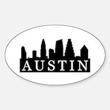 Austin Skyline Oval Decal