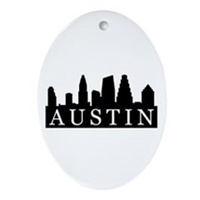 Austin Skyline Oval Ornament