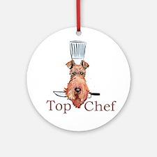 Irish Terrier Chef Ornament (Round)