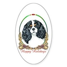 Cavalier King Charles Spaniel Holiday Decal