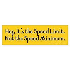 Speed Bumper Bumper Sticker